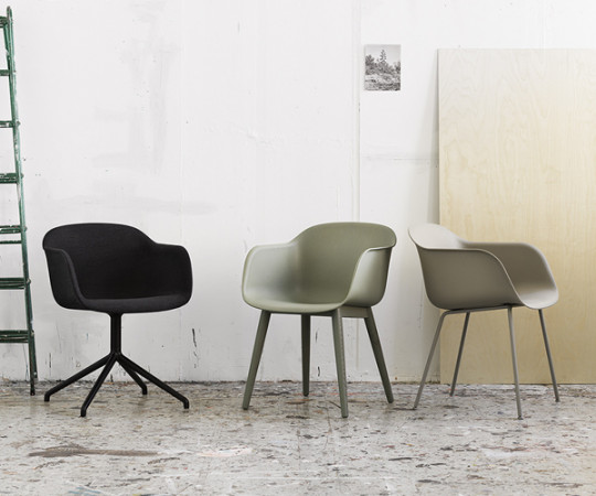 Muuto Fiber Chair Sled - Arm - Front polstring