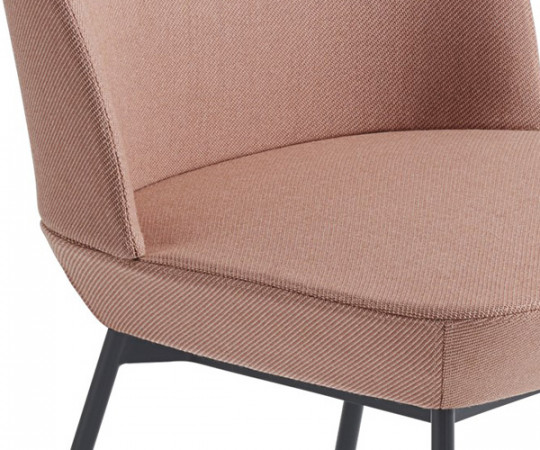 Muuto Oslo Side Chair - Twill Weave 530/Anthracite