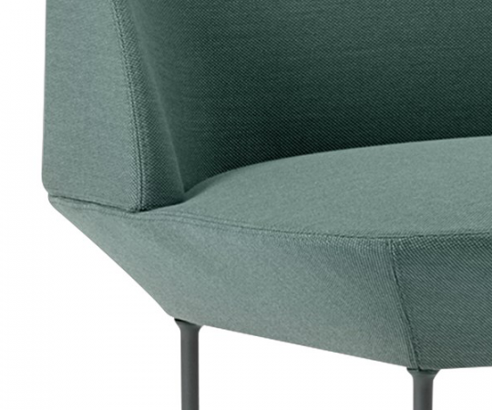 Muuto Oslo Lounge Chair - Steelcut Trio 966