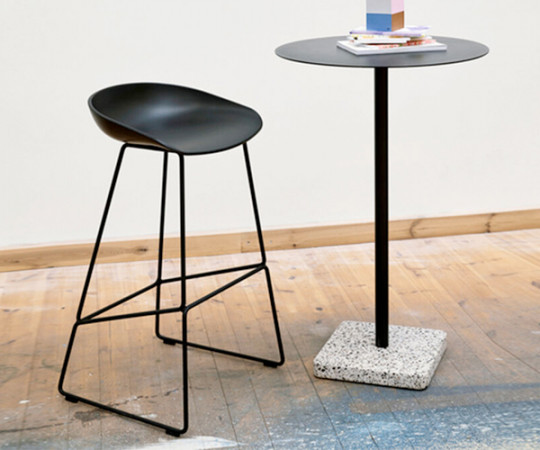 HAY About a Stool (AAS 38) - Sort/Sort Stål - H:65cm