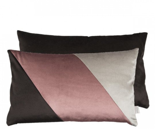 Au Maison Velvet Silk pude - charcoal/grape/silver
