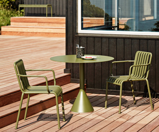 HAY Palissade Cone Table - Dia.90cm. - Olive