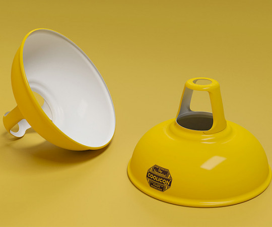 Coolicon Lampe - Original 1933 - Deep Yellow - Large