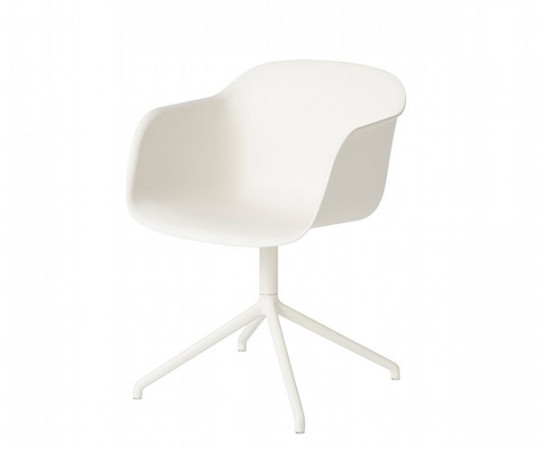 Muuto Fiber Chair Swivel - arm - polished aluminium