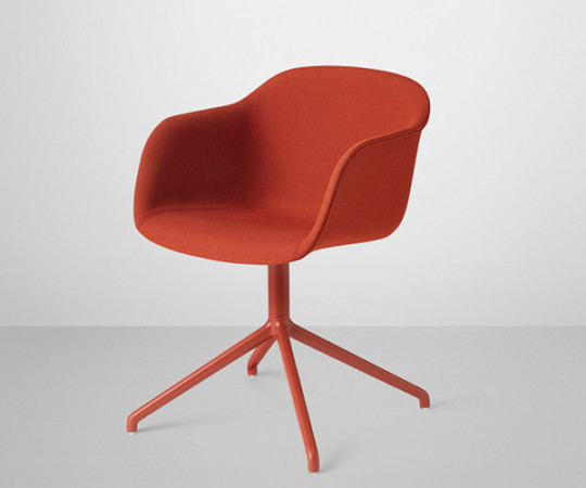 Muuto Fiber Chair Swivel - Arm - Stof