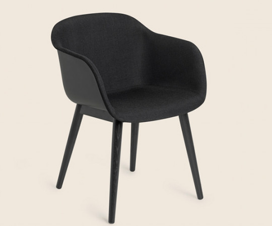 Muuto Fiber Chair Wood - Arm - Front polstring
