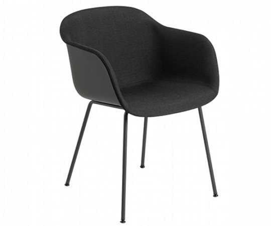 Muuto Fiber Chair Tube - Arm - Front polstring