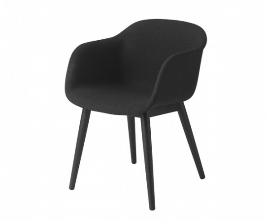 Muuto Fiber Chair Wood - Arm - Stof