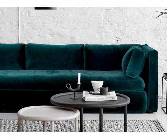 HAY Hackney 3 Seater sofa - Harald Velour