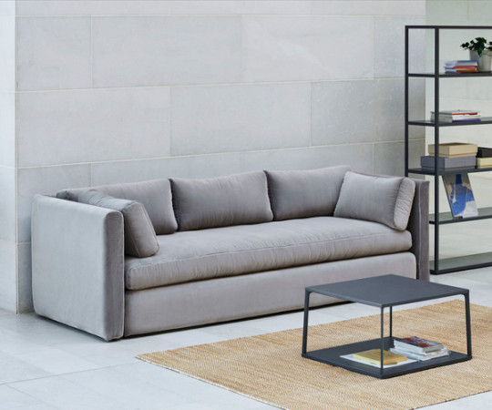 HAY Hackney 3 seater sofa - Warm Grey Lola Velour