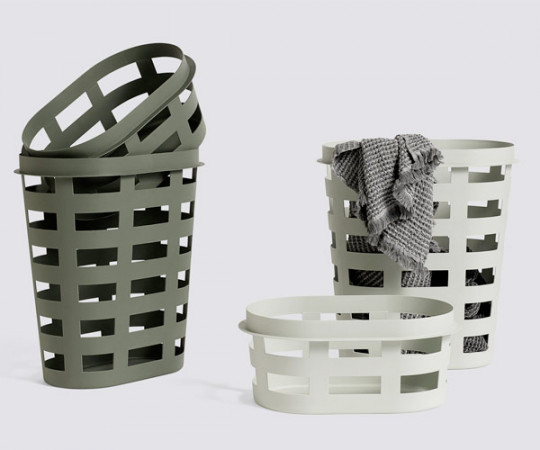 HAY Laundry Basket Lys Grå - Small