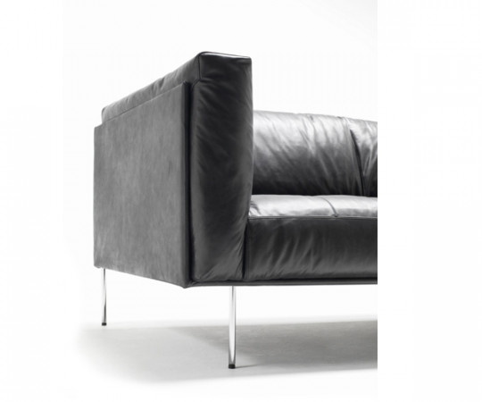 Living Divani Rod Sort Læder Sofa