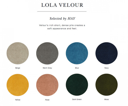 Hay About a chair (AAC23) Lola Velour Polstret