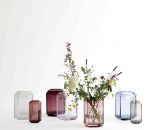 Louise Roe Jewel vase - H26 - Clear