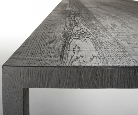 MDF Italia Tense Carbon Black Wood Table - 100x240cm