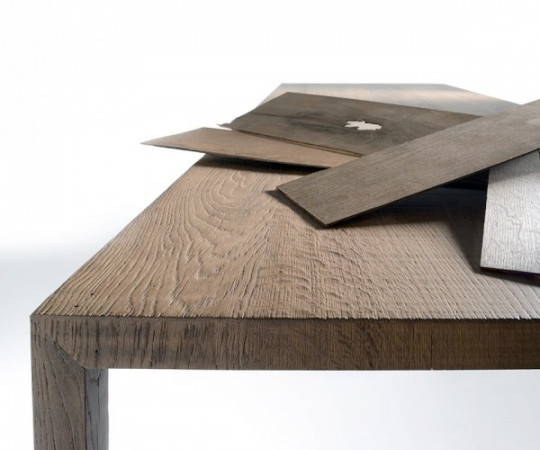 MDF Italia Tense Wood Table - 100x240cm