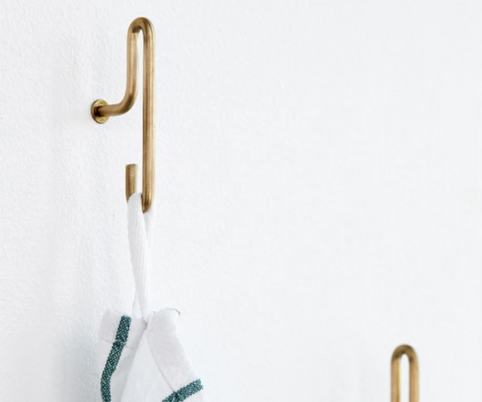 Moebe Wall Hook - Brass - Small (x2)