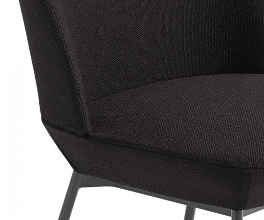 Muuto Oslo Side Chair - Ocean 3/Anthracite Black