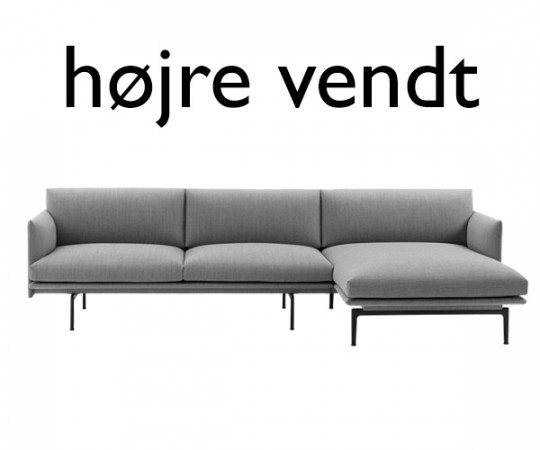 Muuto - Outline Sofa Chaise Lounge - Fjord 151 Stof