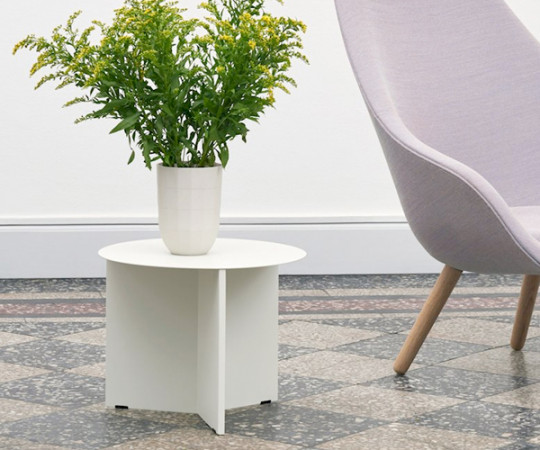HAY Slit Table - Round - White