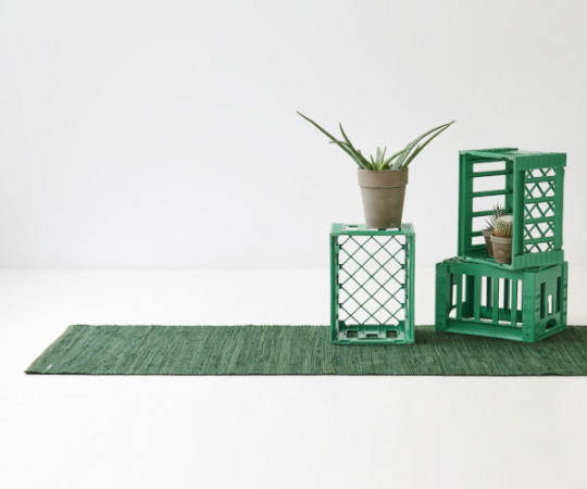 Rug Solid Cotton -135x65 - Guilty Green