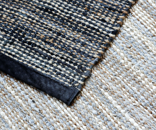 Rug Solid jute - 65x135 - Smooth Grey
