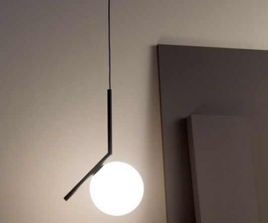 Flos IC Light S2 Pendel Lampe - Sort