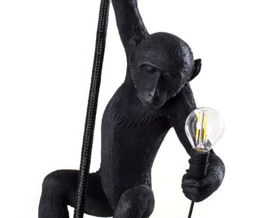 Seletti Monkey lamp - Ceiling - Black