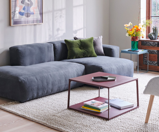 HAY Mags Soft Sofa - Low Arm - Combination 3 - Linara Stof 198