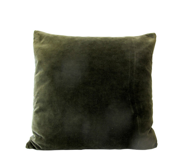 by living olive velour pude