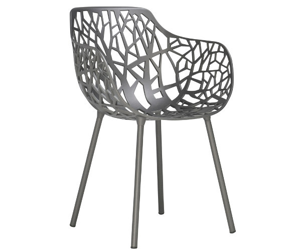 forest chair metallic grey