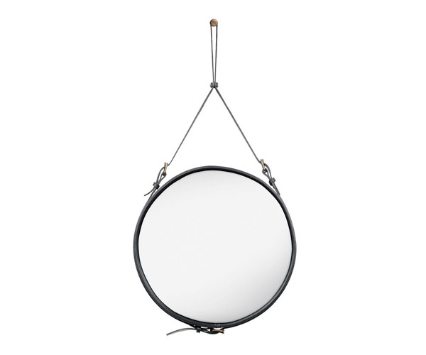 Gubi Adnet Circulaire Mirror Black - Ø58cm. - Medium