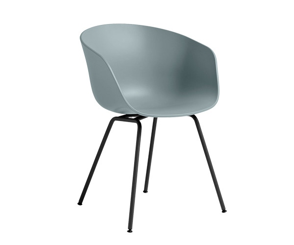 HAY About A Chair AAC26 dustyblue/sort spisestol