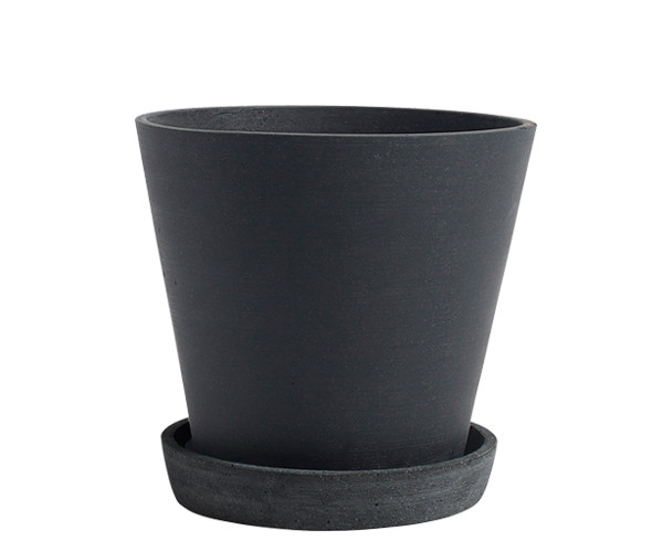 HAY Flowerpot with Saucer - Black