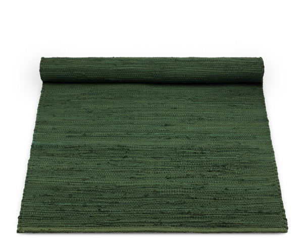 rug solid guilty green bomuld