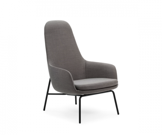 Normann Copenhagen - Era Lounge Chair High Steel - Breeze Fusion