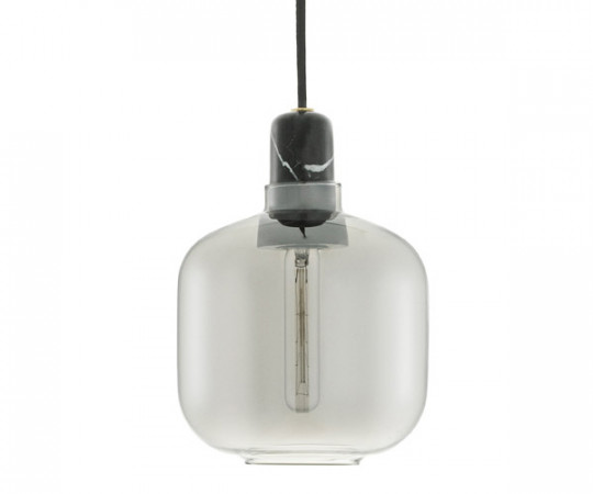 Normann Copenhagen Amp Lamp Small smoke/black