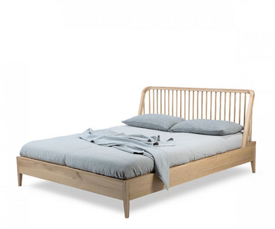 Ethnicraft Oak Spindle Bed - Sengeramme - 180x200cm.