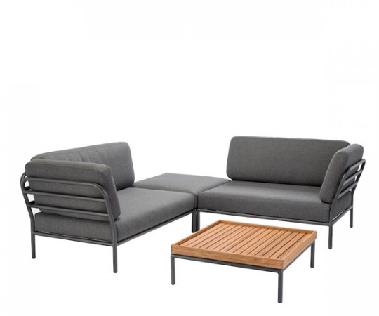 HOUE Level lounge sæt - 4 moduler - dark grey