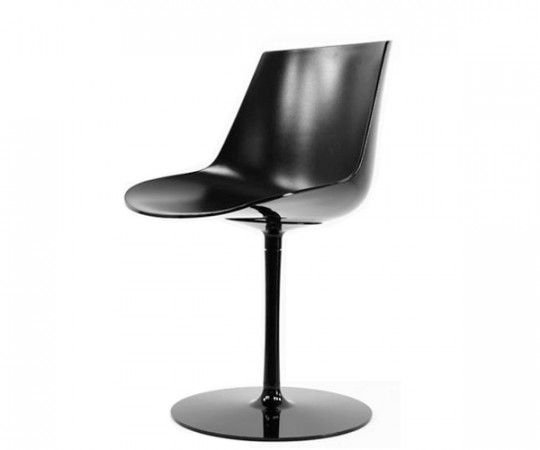 Mdf Italia Flow Chair Søjleben - Blank Sort