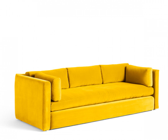 HAY Hackney 3 seater sofa - Yellow Lola Velour