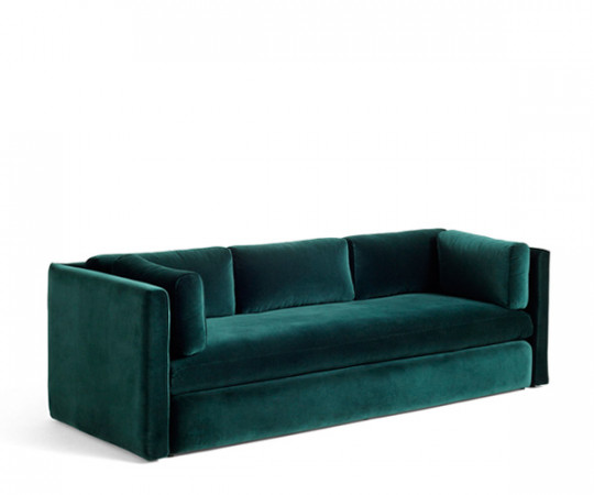 HAY Hackney 3 seater sofa - Dark Green Lola Velour