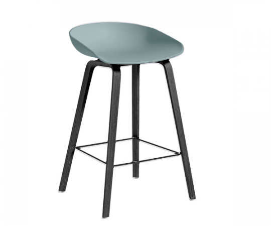 HAY About A Stool AAS 32 dusty blue / sort