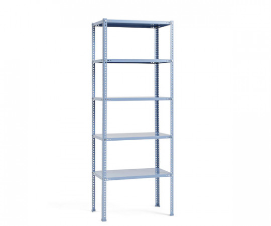 hay shelving unit dusty blue