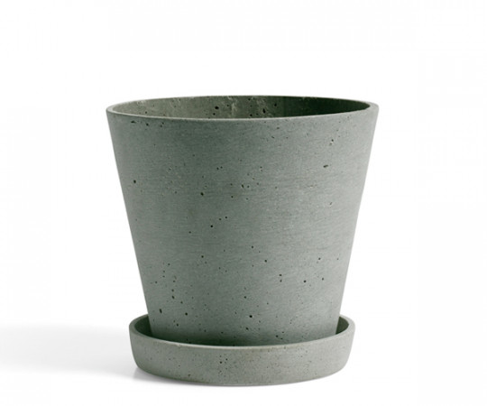 HAY Flowerpot with Saucer - terracotta - large