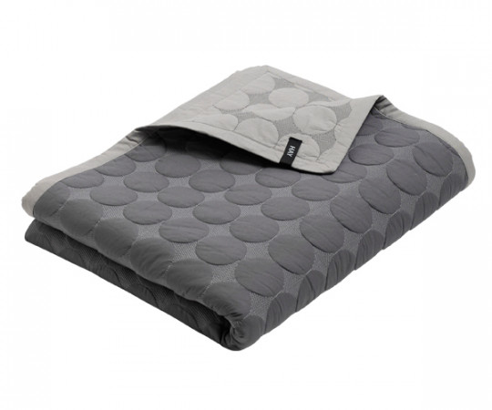 HAY Mega Dot Bed Cover - Sengetæppe - dark grey