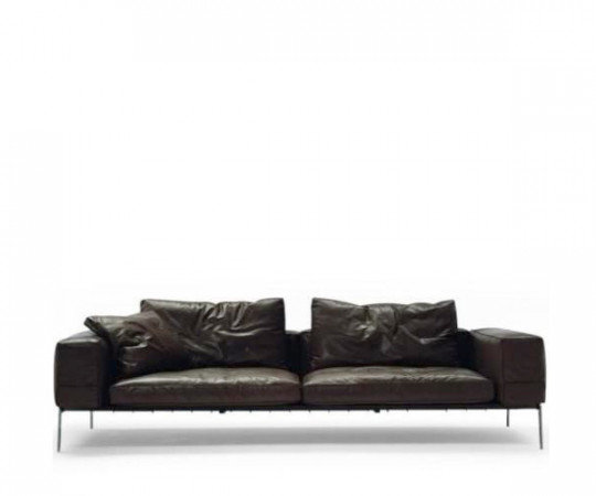 Flexform Lifesteel Kampagne sofa - Sort