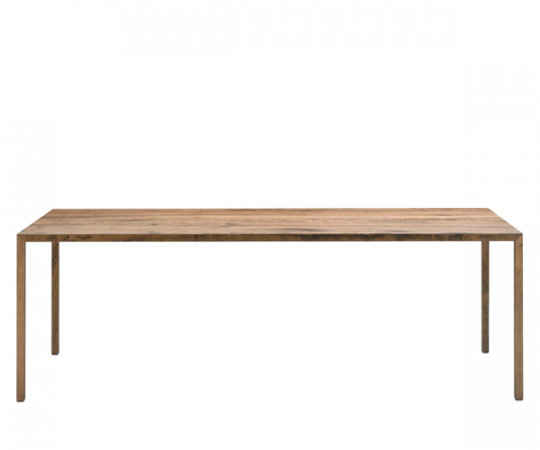 MDF Italia Tense Wood Table - 100x280cm