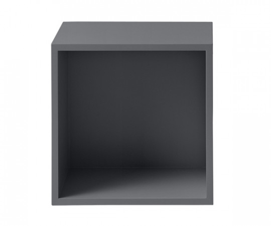 MUUTO Stacked Modul Medium med Bagbeklædning i Dark Grey
