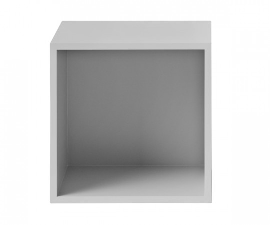 MUUTO Stacked Modul Medium med Bagbeklædning i Light Grey